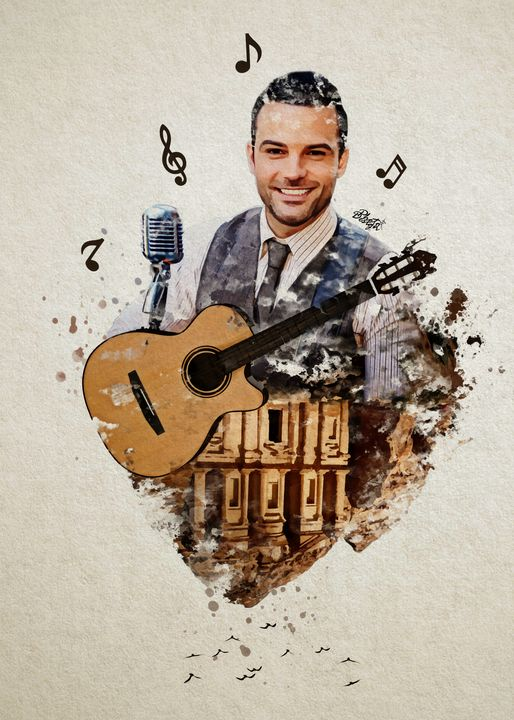 Guitar Love in Petra - Photo Design AJ