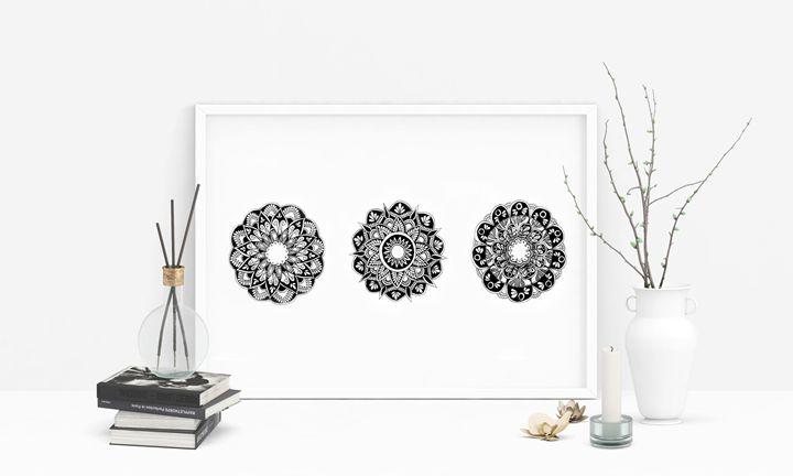 Contemporary Mandala Art Print - Nineteen Ninety Nine