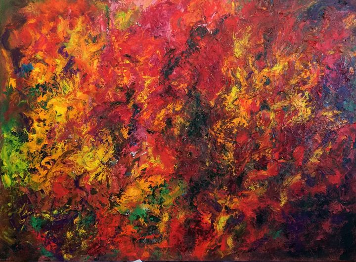 Fall Flames - Abstract Flowers