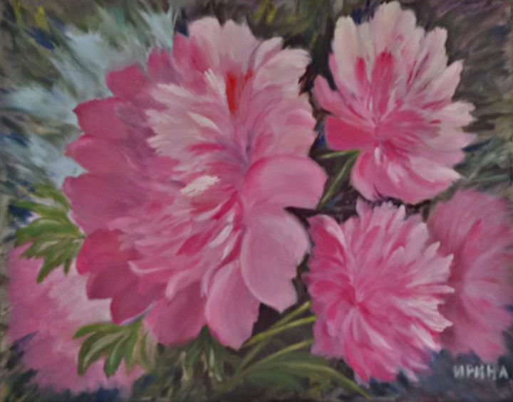Delightful Peonies - Abstract Flowers