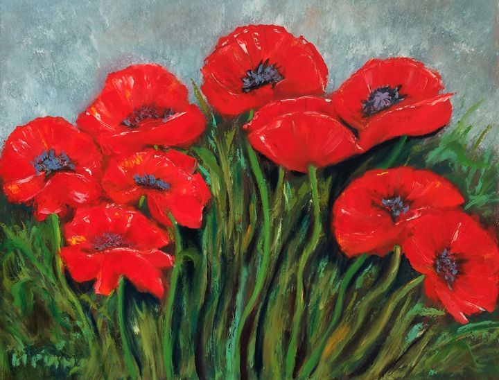Red Poppies - Abstract Flowers