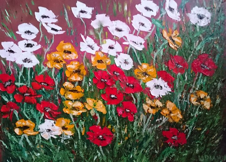 Poppies Mix - Abstract Flowers