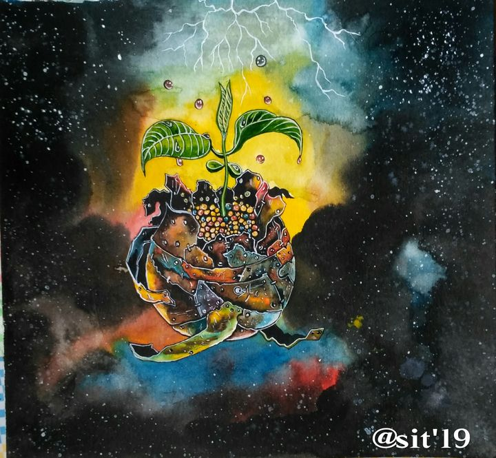 Saved Dark aged earth - Shrishti Institute of Art Training