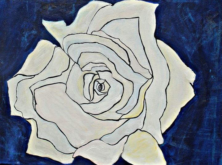 The Blue Distressed Rose - Creative Concepts by Amy Christine