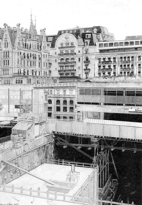 construction of the Lausanne metro - Mixt Villars