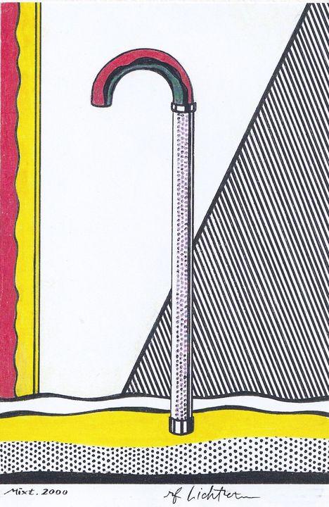 cane in the Roy Lichtenstein's style - Mixt Villars