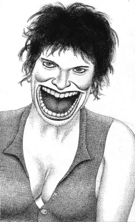 The fierce smile of a youg woman - Mixt Villars