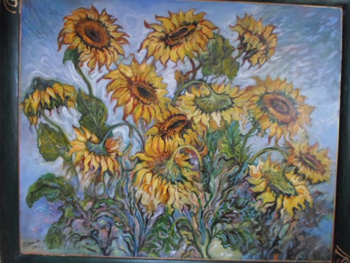 Sunflowers abstract - Four Seasons -Artworld