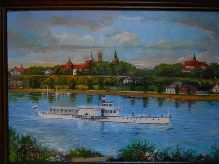 Steamboat at the Vistula river at... - Four Seasons -Artworld