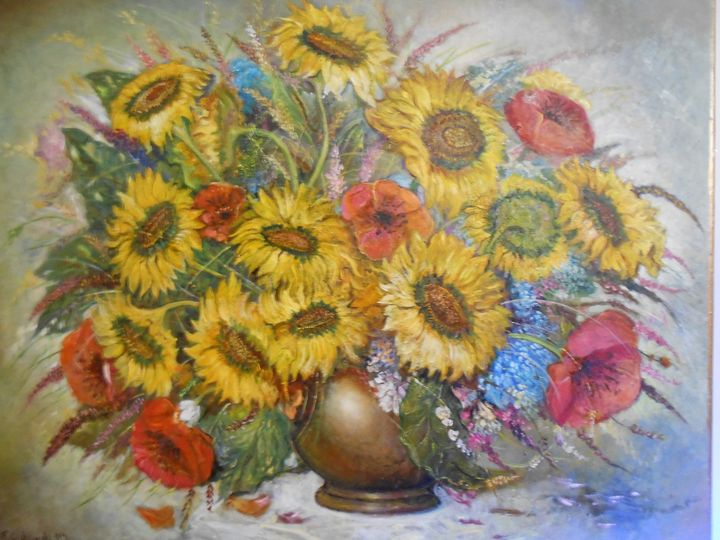 Sunflowers&Poppies - Four Seasons -Artworld