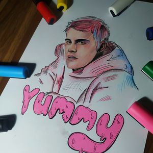 Justine Bieber Abstract art