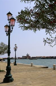 Lamp on the Venice river