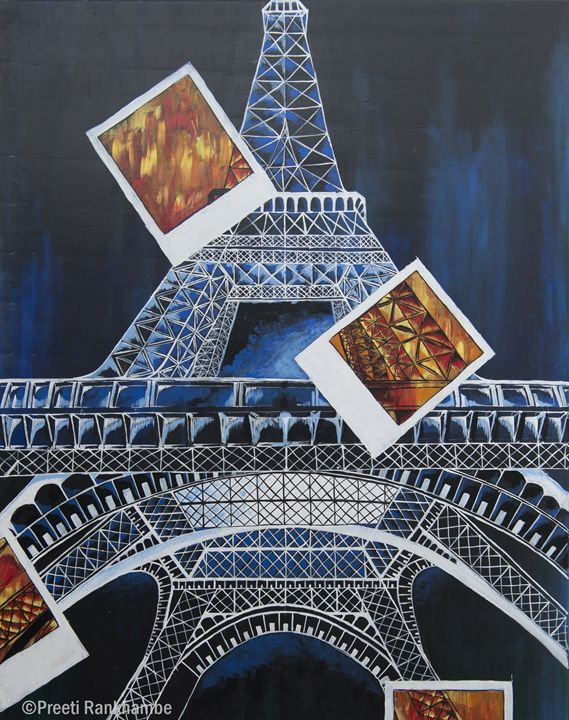Abstract-Eiffel Tower - Being Preeti