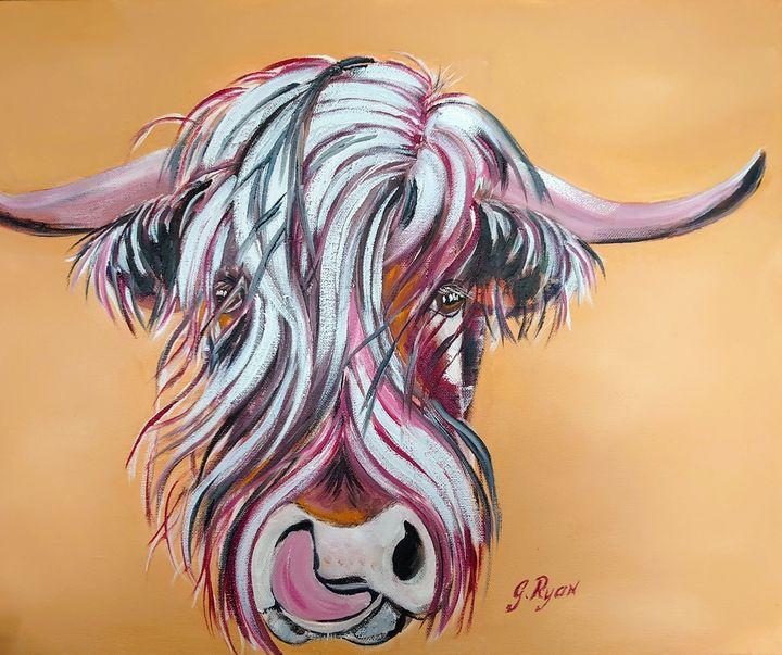 """Cowlick"" Highland Cow - G.Ryan ( Geraldine )"