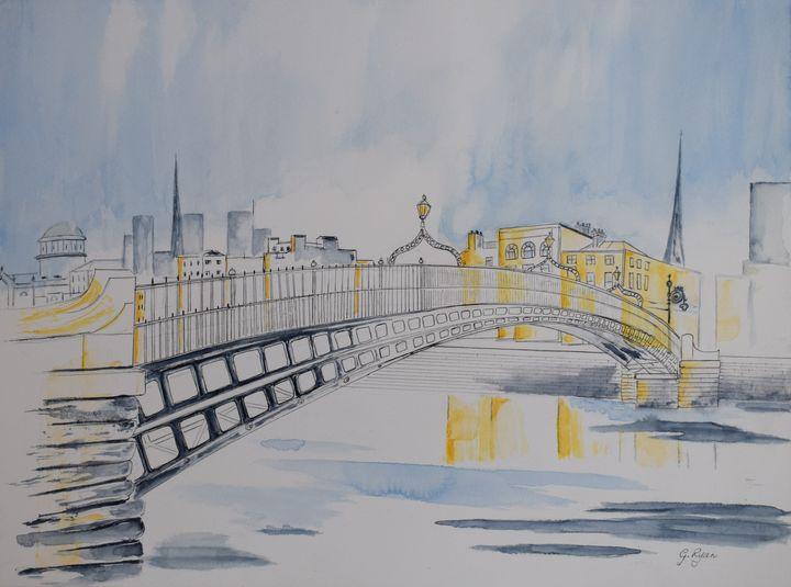Halfpenny Bridge, Dublin, Ireland - G.Ryan ( Geraldine )