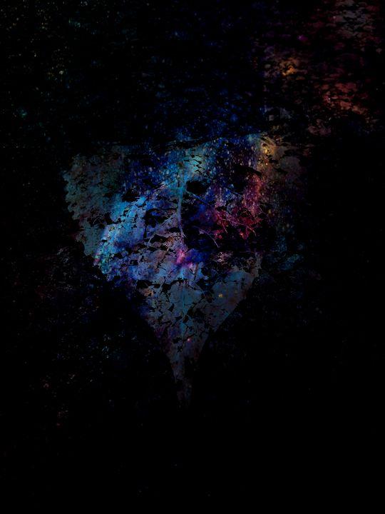 Blue asteroid heart hurtling home - Matt Lintzenich