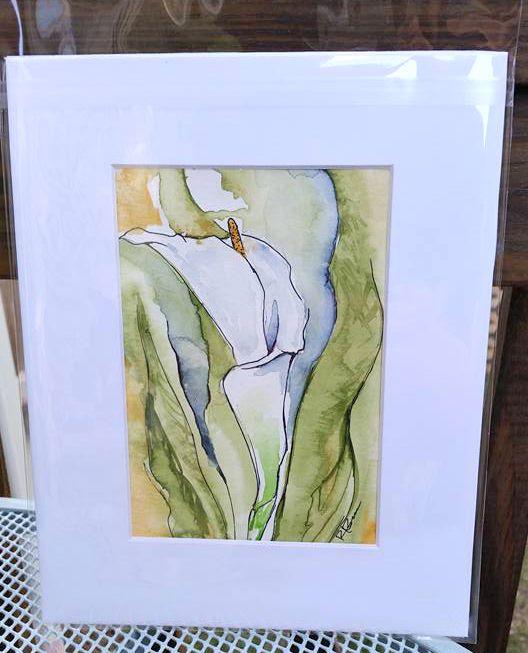 Original Watercolor: Calla Lily - Rick Bravoco's Gallery