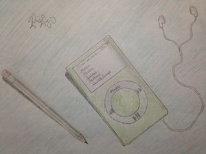 iPod and Pencil