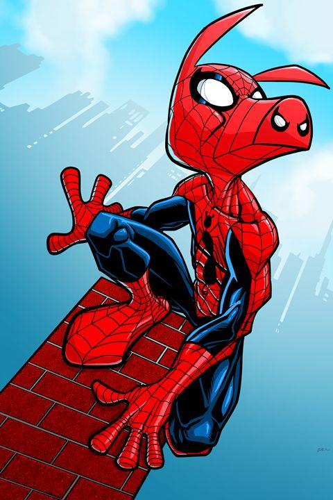 Spider-Ham - Comic art