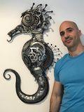 Sea Horse Metal Sculpture