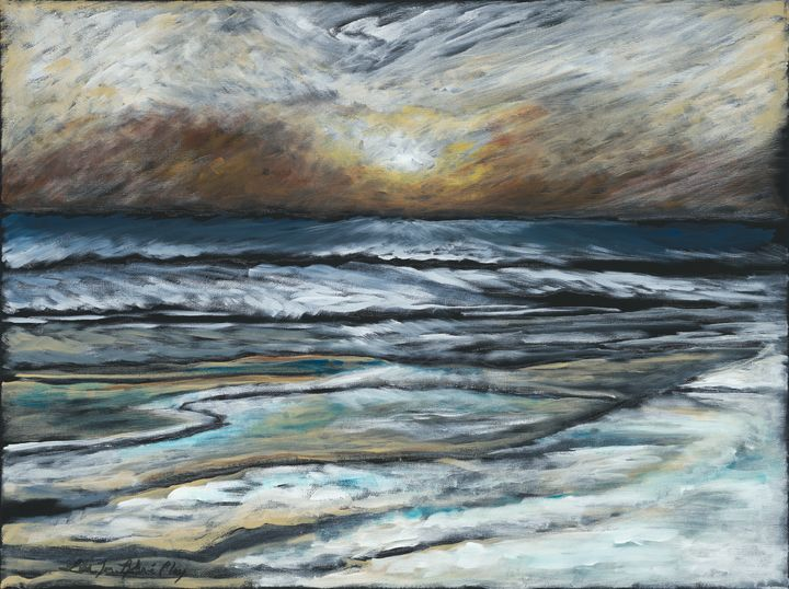 Moonlit Waves - Lisa Jan-Bohne' Clay