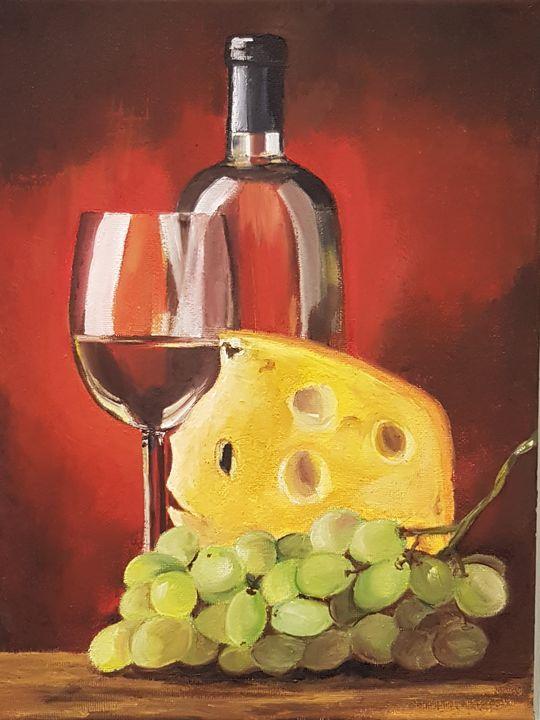 Cheese and wine. - Eleonor Art