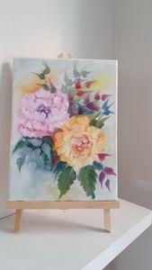 Original oil painting English roses
