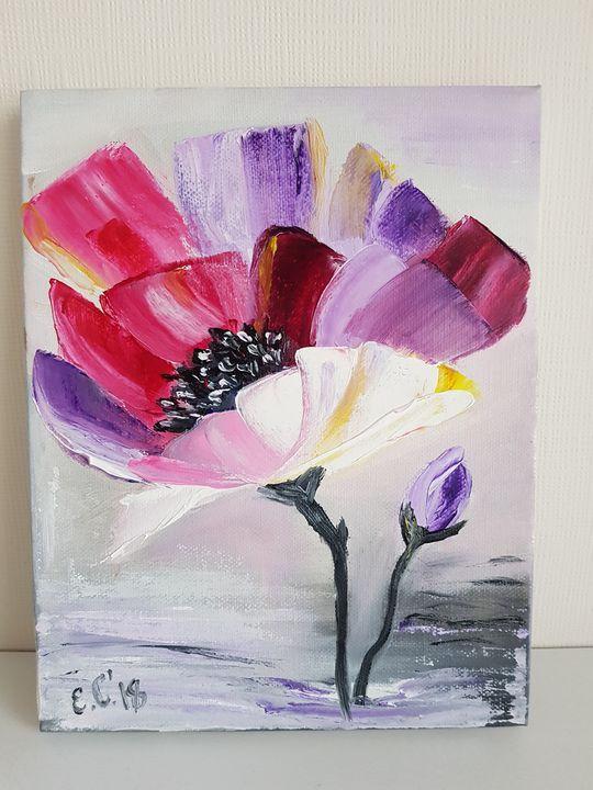 Single multicoloured flower - Eleonor Art