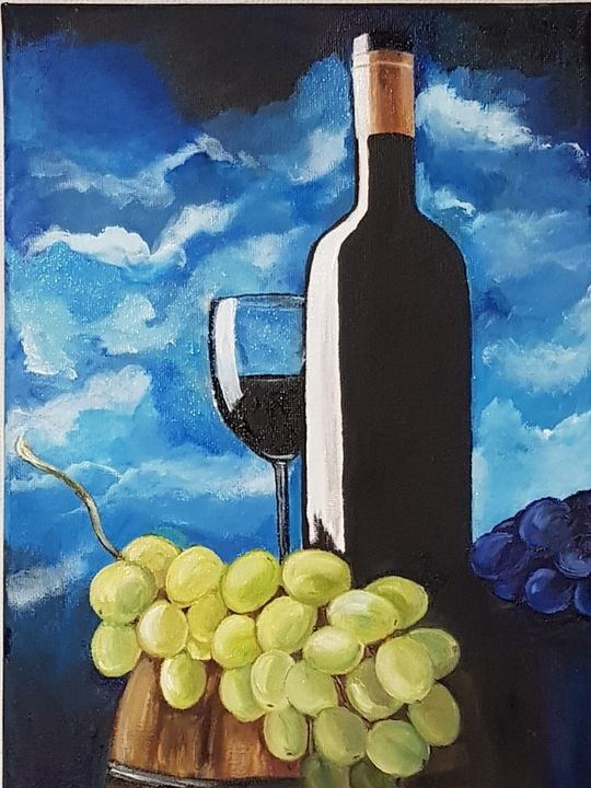 Wine and grapes. - Eleonor Art