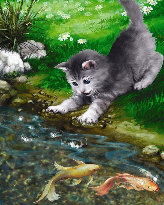 Kitten Falls into the Water! - Aviva Gittle Gifts