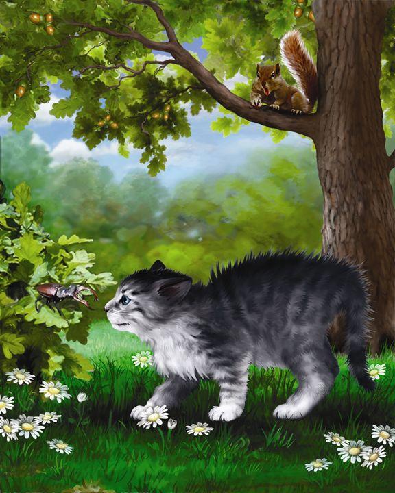 Kitten & Squirrel IV - Aviva Gittle Gifts
