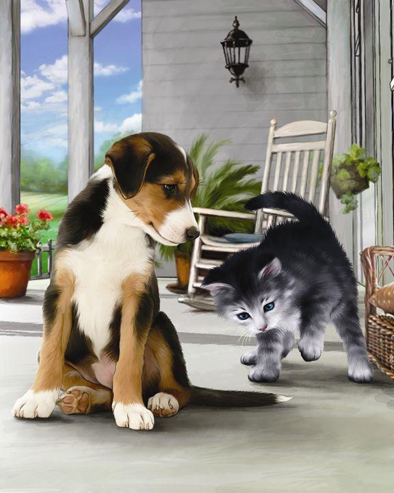Kitten and His Puppy Friend - Aviva Gittle Gifts
