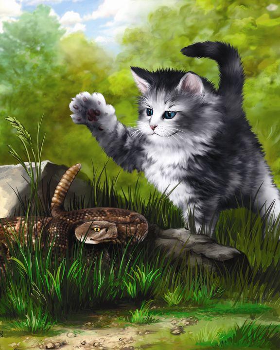 Kitten & Snake II - Aviva Gittle Gifts