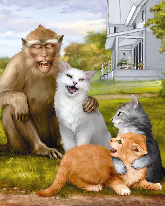 Monkey, Momma Cat & Kittens - Aviva Gittle Gifts