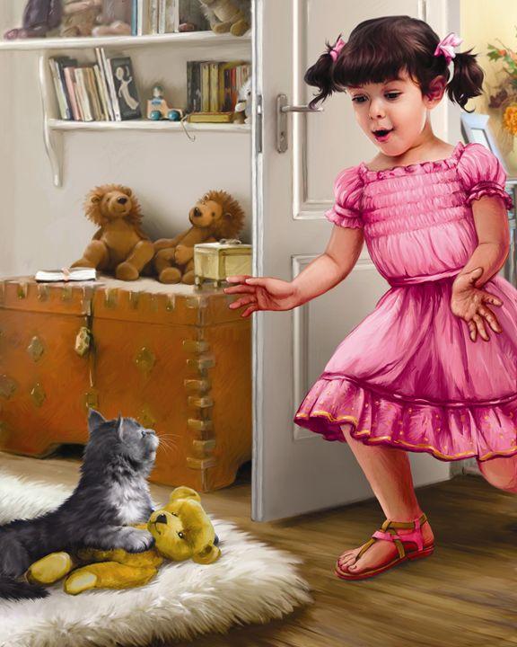 Little Girl is Reunited With Kitten - Aviva Gittle Gifts