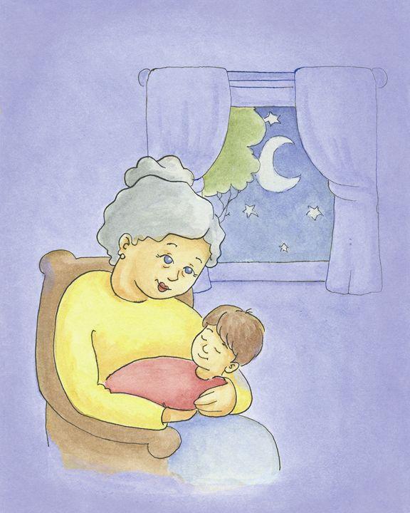 Nana Rocks Baby to Sleep - Aviva Gittle Gifts