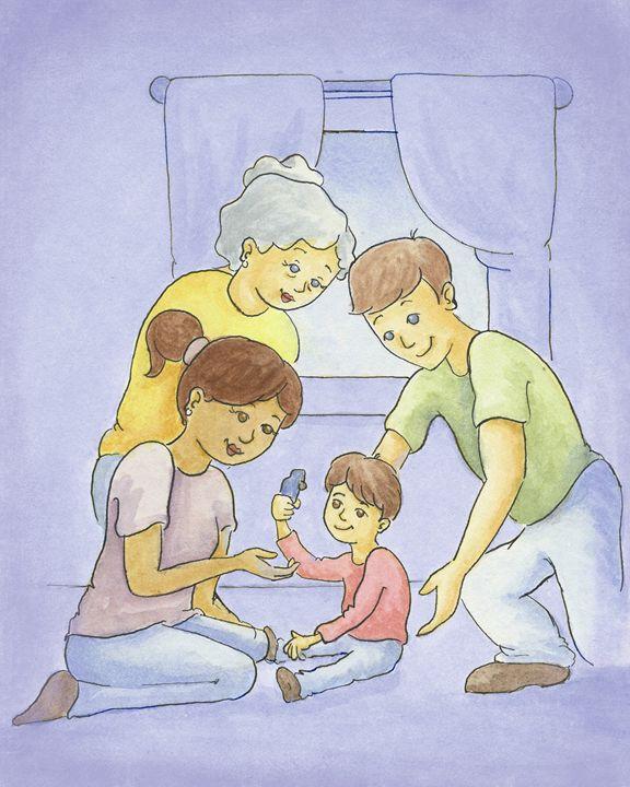 Nana With Family - Aviva Gittle Gifts