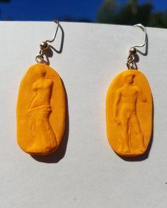 Venus Of Milo and David Earrings.