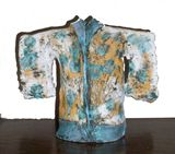 earthenware sculpture, hand made and