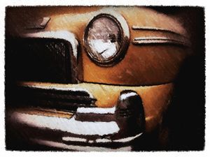 vintage car in rust - Lisa Welcher Art