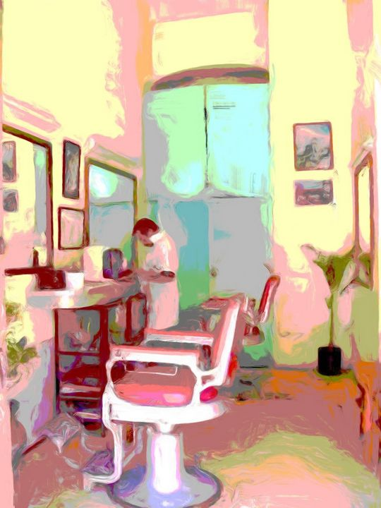 Retro Barber shop - Lisa Welcher Art