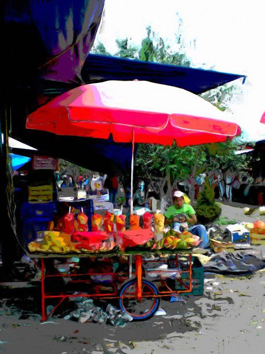 Watermelon vendor - Lisa Welcher Art