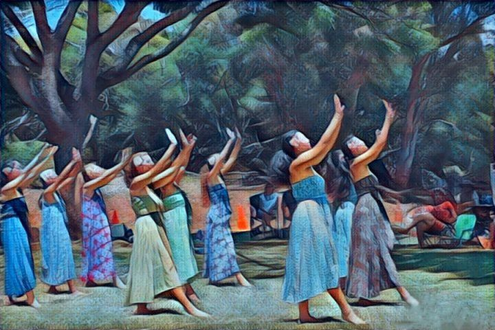 hawaiian dancers - Lisa Welcher Art