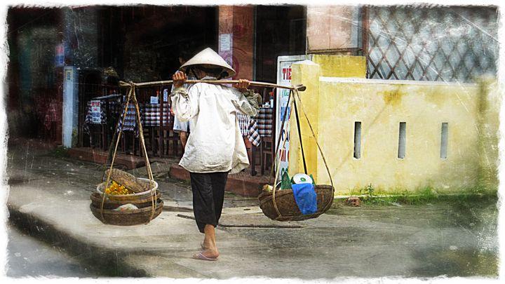 Grocery shopping, Vietnam - Lisa Welcher Art