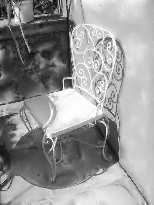 White chair - Lisa Welcher Art