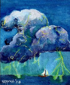 Sailboat And storm