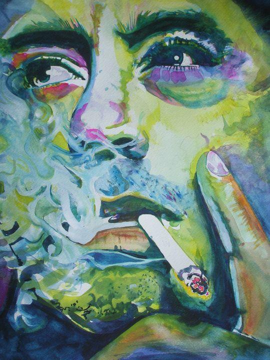 Robert Downey Cigarette - Rayningart