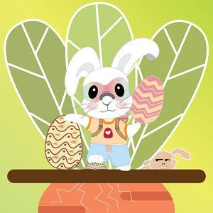 Egg Hunter Cool Rabbit