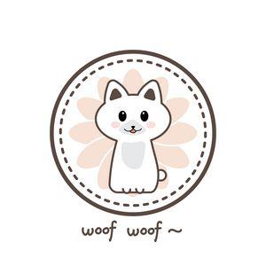 A White Cute Dog Woof Woof ~