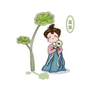 Cute Ancient Chinese Lady in Summer